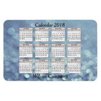 Ímã Calendário anual 2018 da empresa do promo de Bokeh