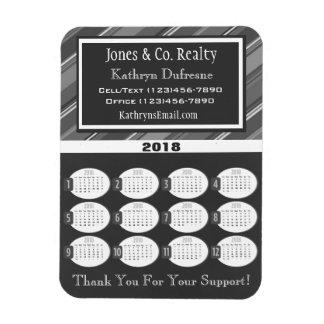 Ímã Calendário cinzento profissional do negócio 2018
