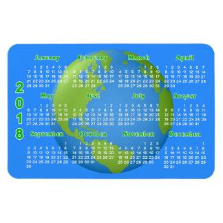 Ímã Calendário do clássico 2018 da terra