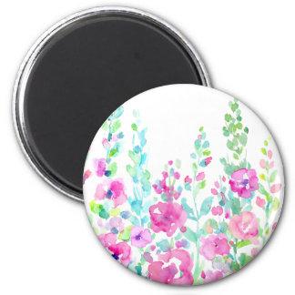 Imã Cama floral abstrata da aguarela