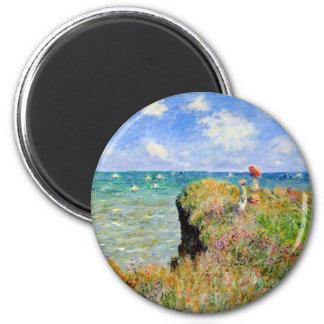Imã Caminhada de Clifftop em Pourville - Claude Monet
