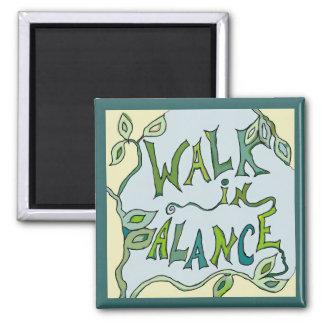 Imã caminhada na videira do equilíbrio