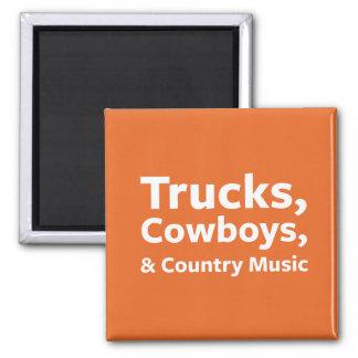 Imã Caminhões, vaqueiros e música country
