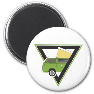 Imã camionete de campista verde clássica do triângulo