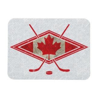 Ímã canadense do logotipo da bandeira do hóquei