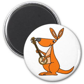 Imã Canguru bonito que joga desenhos animados do banjo