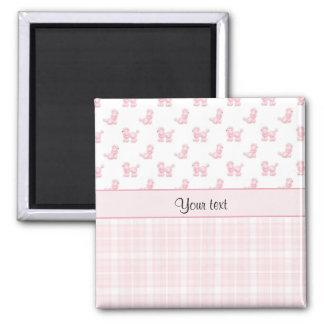 Imã Caniches & verificações cor-de-rosa do rosa