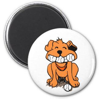 Imã Cão com as bolas na boca