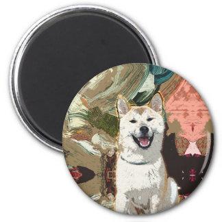 Imã Cão de Akita Inu