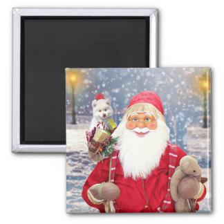 Imã Cão Eskimo americano dos presentes do Natal de