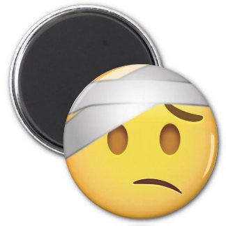 Imã Cara com Cabeça-Atadura Emoji