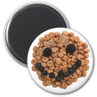 Imã Cara de sorriso bonito da fruta e do cereal
