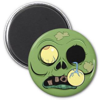 Imã Cara do zombi com olho estalando para fora