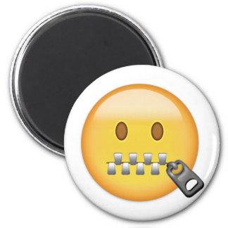 Imã Cara Emoji da Zipper-Boca