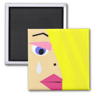 Imã Cara fêmea dos desenhos animados com ímã do rasgo