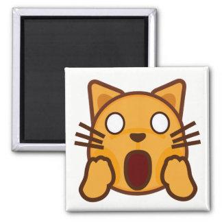 Imã Cara maluco Emoji do gato