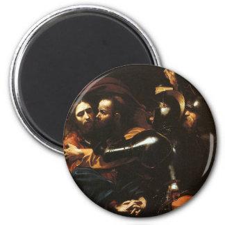 Imã Caravaggio - tomada do cristo - trabalhos de arte