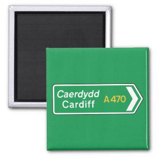 Imã Cardiff, sinal de estrada BRITÂNICO
