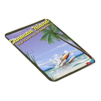 Ímã Caribe, cartaz do paraíso das ilhas de Canouan