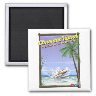 Imã Caribe, cartaz do paraíso das ilhas de Canouan