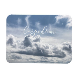 Ímã Carpe Diem, foto bonita das nuvens