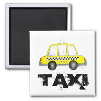Imã Carro Checkered do táxi da Nova Iorque amarela do