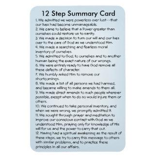 Ímã Cartão sumário de 12 etapas