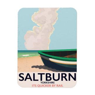 Ímã Cartaz das viagens vintage de Saltburn - de