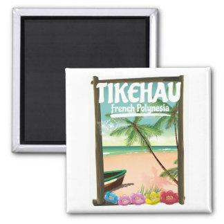 Imã Cartaz do viagem de Tikehau Polinésia francesa