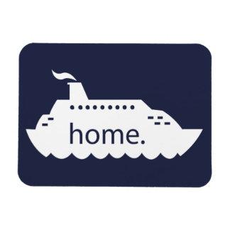 Ímã Casa do navio de cruzeiros - azul marinho