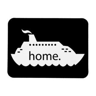 Ímã Casa do navio de cruzeiros - preto