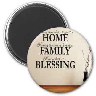 Imã Casa + Família = bênção