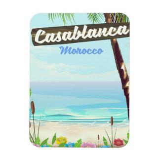 Ímã Casablanca Marrocos, poster vintage romântico