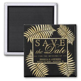 Imã Casamento elegante da samambaia da folha de ouro