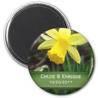 Imã Casamento personalizado do foco Daffodil macio