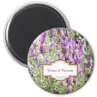 Imã Casamento personalizado flores da lavanda francesa