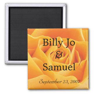 Imã Casamento personalizado macio do rosa amarelo