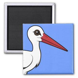 Imã Cegonha branca de Birdorable