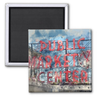 Imã Centro do mercado público em Seattle Washington