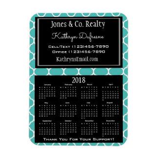 Ímã Cerceta do calendário do negócio 2018