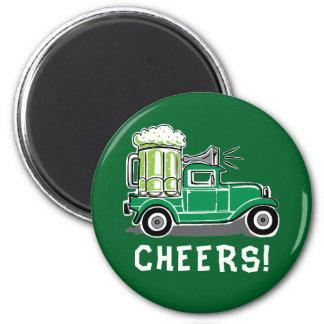 Imã Cerveja do verde do caminhão do vintage do Dia de