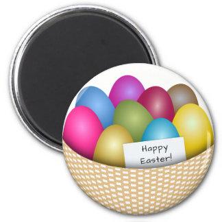 Imã Cesta da páscoa com o ímã colorido dos ovos