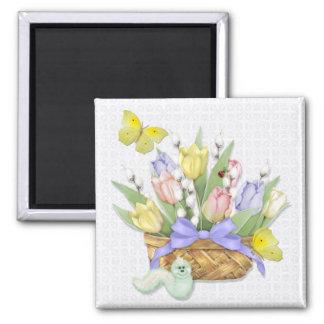 Imã Cesta da tulipa do primavera