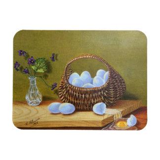 Ímã Cesta dos ovos com violetas