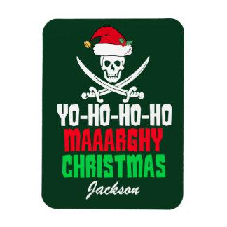 Ímã Chalaça engraçada Yo do Natal do pirata Ho Ho Ho