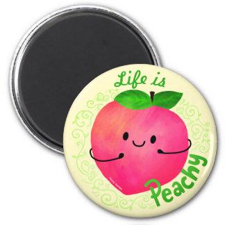 Imã Chalaça positiva do pêssego - a vida é Peachy