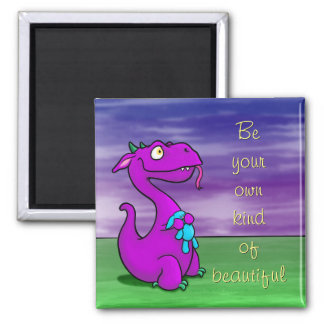 Imã Chameja o dragão, ímã w/quote