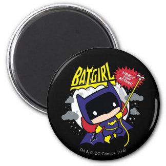 Imã Chibi Batgirl pronto para a ação