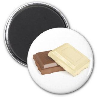 Imã Chocolate branco e marrom