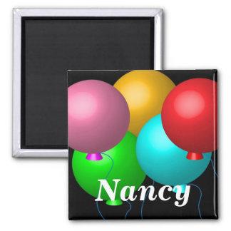 Imã Cinco balões do aniversário